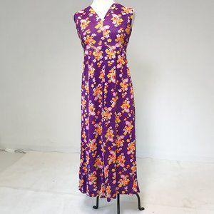 Vintage 70s L Mushroom Fairy Maxi Dress AS-IS